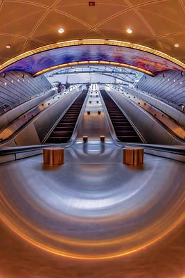 Photograph - Hudson Yards Nyc Subway Station by Susan Candelario