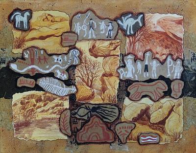 Wall Art - Drawing - Hueco Tanks by Candy Mayer