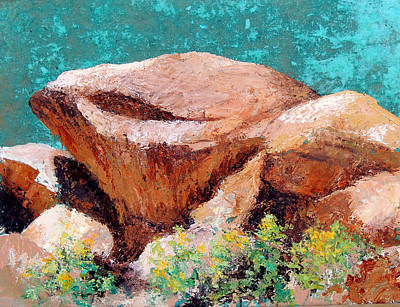 Wall Art - Painting - Hueco Tanks Rocks by Candy Mayer