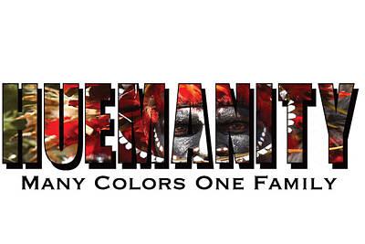 David Beckham Wall Art - Photograph - Huemanity, Many Colors One Family by Alexander Menchero