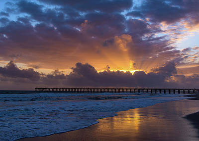 Photograph - Hueneme Pier Under The Clouds by John Hembree