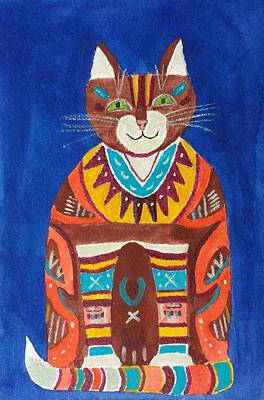 Painting - Huey Cat by Vera  Smith