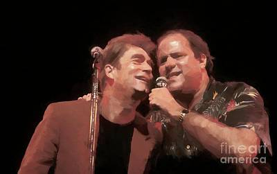 Huey Lewis Photograph - Huey Lewis And Chris Berman Painting by Concert Photos