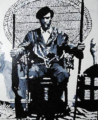 Newton Painting - Huey Newton Minister Of Defense Black Panther Party by Lauren Luna
