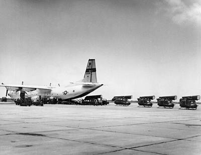 Corpus Christi Photograph - Hueys Back To Vietnam by Underwood Archives