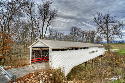 Photograph - Huffman Mill Covered Bridge #1 by Wendell Thompson