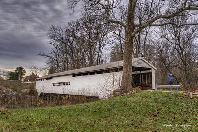 Photograph - Huffman Mill Covered Bridge #2 by Wendell Thompson