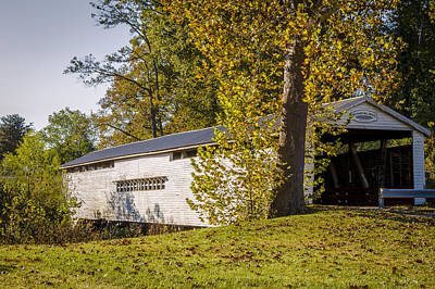 Photograph - Huffman Mill Covered Bridge by Jack R Perry