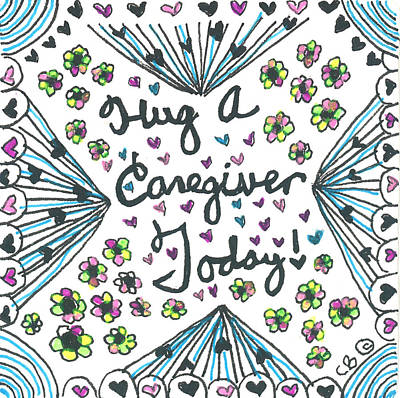 Hug A Caregiver Art Print