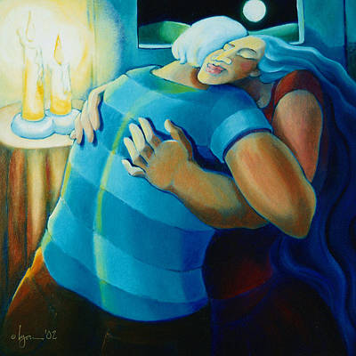 Painting - Hug And A Half by Angela Treat Lyon
