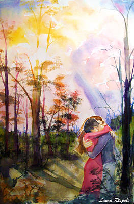 hug Art Print by Laura Rispoli