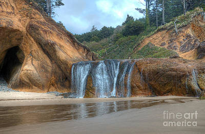 Hug Photograph - Hug Point Waterfall 2 by Hilton Barlow