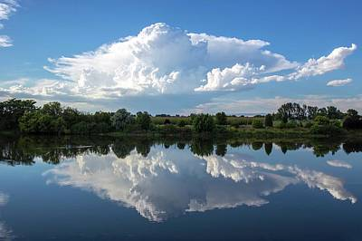 Photograph - Huge Cloud Reflection by Lynn Hopwood