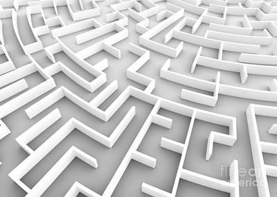 Photograph - Huge Maze. Business Strategy Concepts, Challenge, Problem Solving Etc. by Michal Bednarek