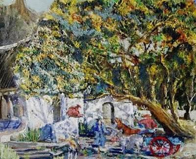 Keith Richards - Huge Tree In Front Of An Old Homestead H B by Gert J Rheeders