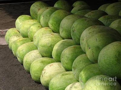 Huge Watermelons Art Print