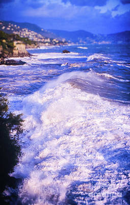 Art Print featuring the photograph Huge Wave In Ligurian Sea by Silvia Ganora