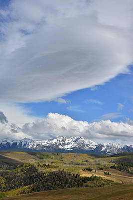 Photograph - Huge Wind Swept Cloud Over Wilson Mesa by Ray Mathis