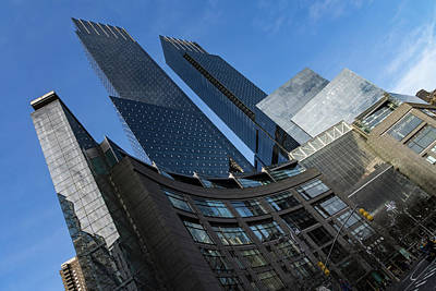 Photograph - Hugging Columbus Circle - The Elegant Curvature Of Time Warner Center Buildings by Georgia Mizuleva