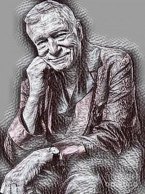 Hugh Hefner Drawing Art Print