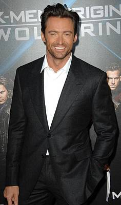 At Arrivals Photograph - Hugh Jackman At Arrivals For L.a by Everett