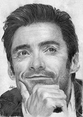 Wolverine Drawing - Hugh Jackman by Bianca Ferrando