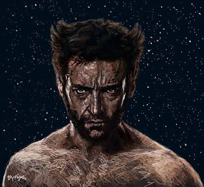 Wolverine Digital Art - Hugh Jackman Is The Wolverine by Neil Feigeles