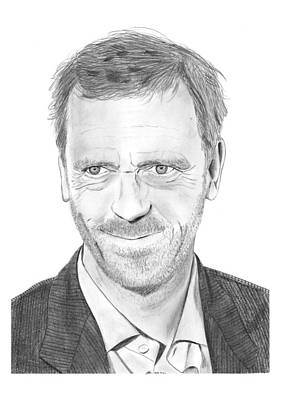 Hugh Laurie Art Print by Gabor Vida