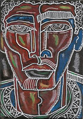 African-american Mixed Media - Hughes Blues One by Perrion Hurd