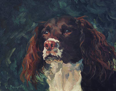 Painting - Hugo The English Setter by Lynn Gimby-Bougerol