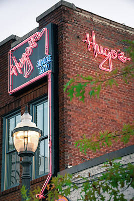 Photograph - Hugos Since 1977 - Fayetteville Arkansas by Gregory Ballos
