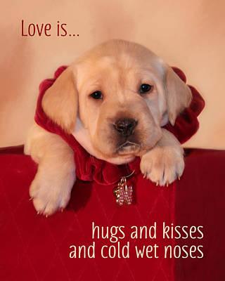 Hugs And Kisses Art Print by Lori Deiter