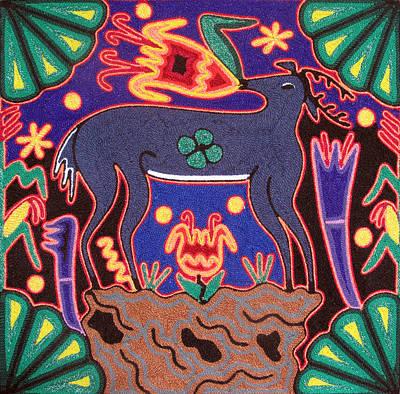 Huichol Deer Art Print by Andrew Osta