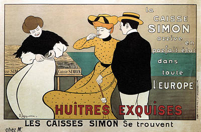 Royalty-Free and Rights-Managed Images - Huitres Exquises - Les Caisses Simon Se Trouvent - Vintage Advertising Poster by Studio Grafiikka