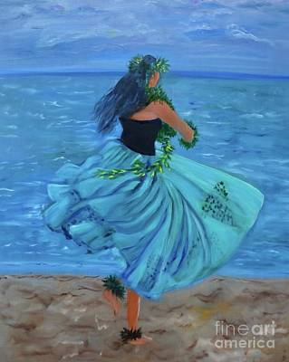 Painting - Hula Blues by Jenny Lee