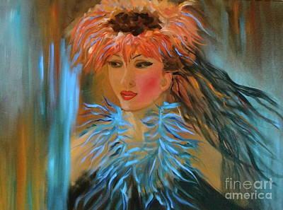 Hula In Turquoise Art Print