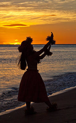 Hula Dancer Art Print