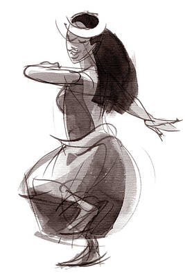 Hula Dancer Olina Art Print