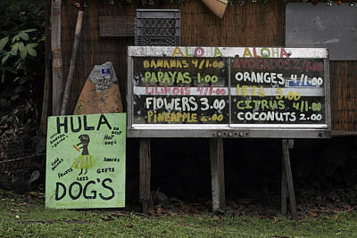 Hula Dogs Art Print