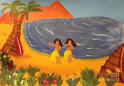 Kauai Girl Painting - Hula Girls by Marina McLain