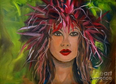 Hula Haku Lei Jenny Lee Discount Art Print