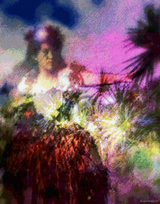 Tropical Digital Art - Hula Mai Oe by Kenneth Grzesik