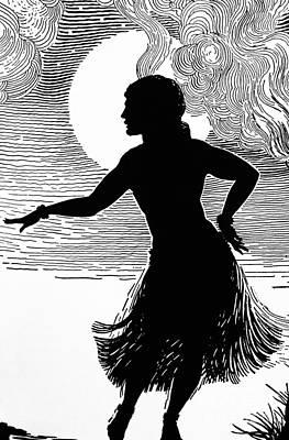 Hula Girl Art Painting - Hula Moons by Hawaiian Legacy Archive - Printscapes