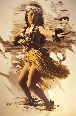 Hula On The Beach Art Print by Himani - Printscapes