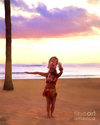 Photograph - Hula On The Beach by Jon Burch Photography