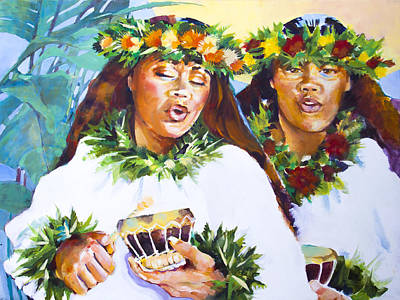 Hawaii Hula Dancer Painting - Hula Song by Penny Taylor-Beardow