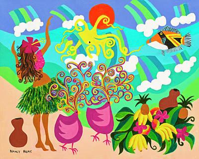 Hula With Octopus Original