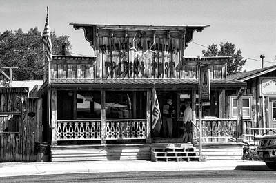 Hulett Wyoming Trading Post Bw Print by Thomas Woolworth