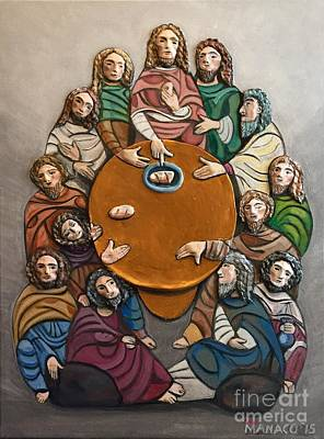 Philippines Painting - Huling Hapunan Dalawa Last Supper Two by Ferdz Manaco