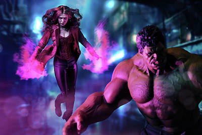 Photograph - Hulk And Scarlet Witch by Pete Tapang